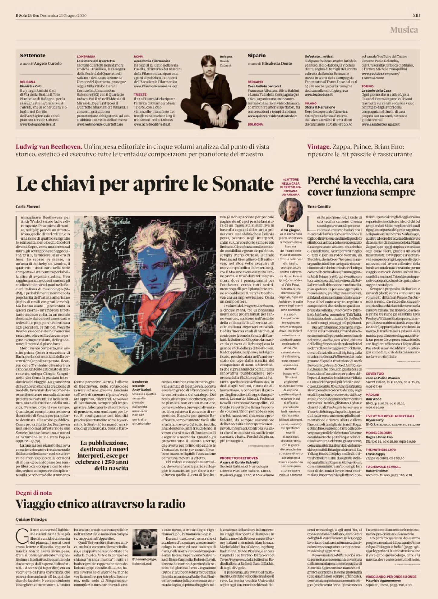 Beethoven Project featured on Sole 24 Ore